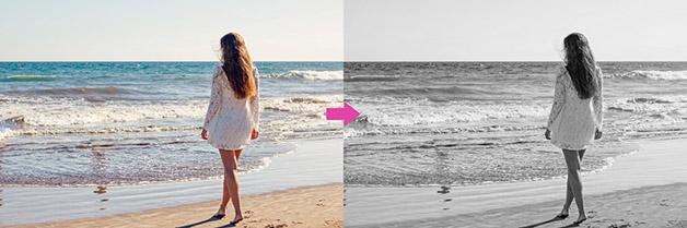 Transformer une photo en noir et blanc sur Photoshop