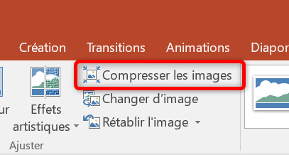 Compresser les images avec PowerPoint