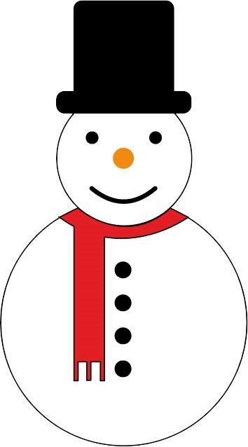 Bonhomme de neige sur Illustrator