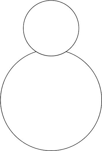 Corps et tête du bonhomme de neige
