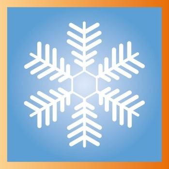 Flocon de neige sur Illustrator