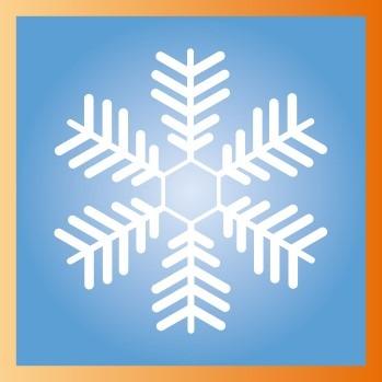 Flocon de neige sur Illustrator